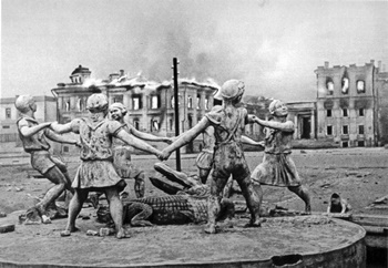 "Fountain ""Children dance"" in Stalingrad"
